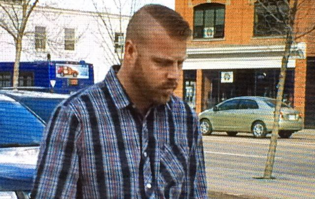 Still of Jashua Robert Tremblay leaving court on Tuesday.