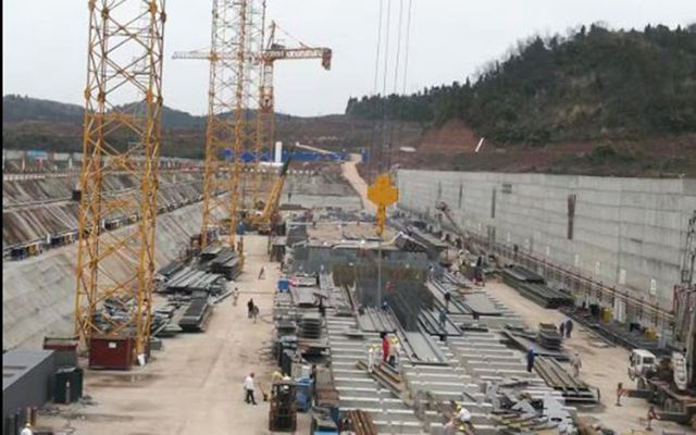The New Titanic is under construction in Daying county, Sichuan.