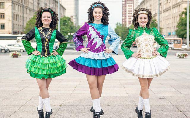 Irish dancers in Dublin.