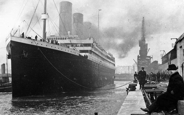 The RMS Titanic departing Southampton.