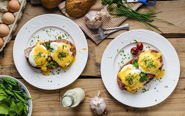 Delicious eggs benedict.