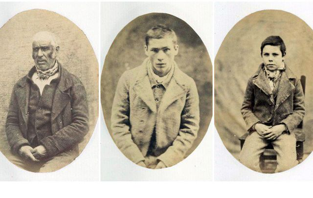 Three unnamed inmates of Mountjoy Prison Dublin in 1857.