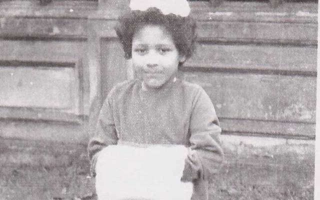Annie Yellowe Palma as a child, about six years old.