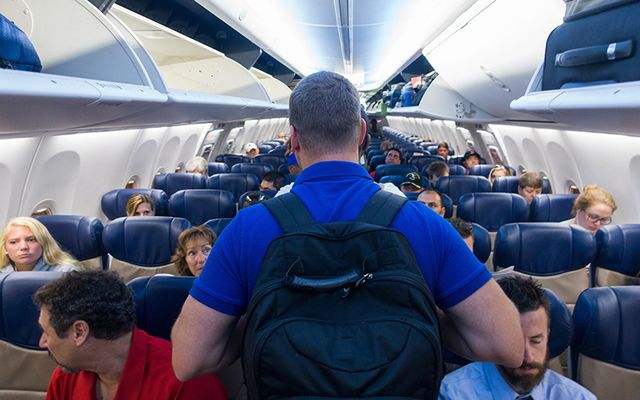 Crowded plane - most annoying things.