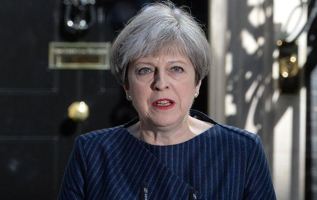 British Prime Minister Theresa May at 10 Downing St.