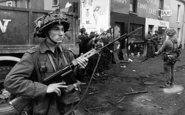 British soldiers in Northern Ireland.