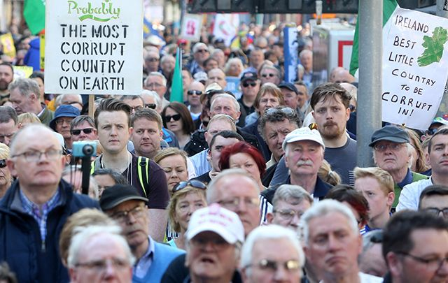 Irish public continue to protest Irish Water.