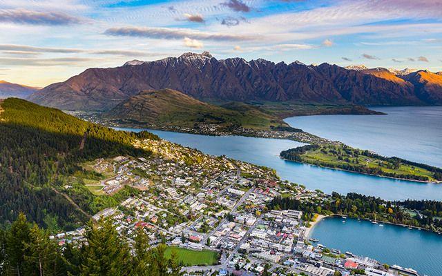 New Zealand landscape.
