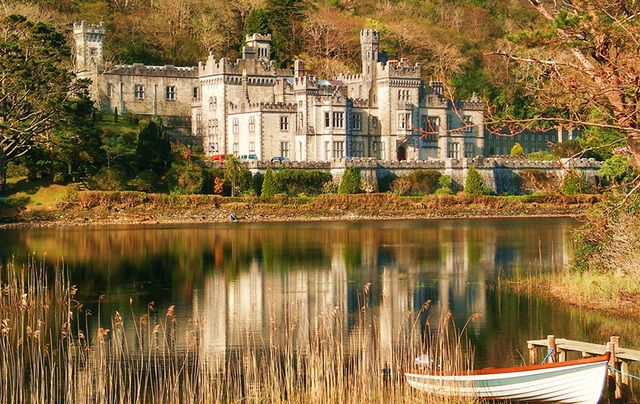 Nope! It\'s not Hogwart\'s it\'s Kylemore Abbey, County Galway.