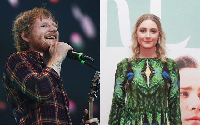Ed Sheeran and Saoirse Ronan.