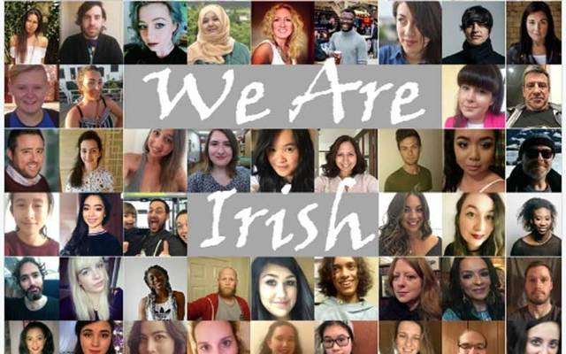 Photo from #WeAreIrish Twitter campaign.