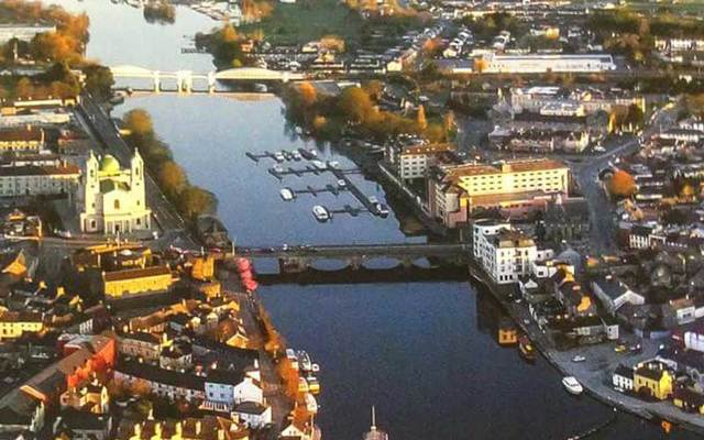 Aerial shot of Athlone