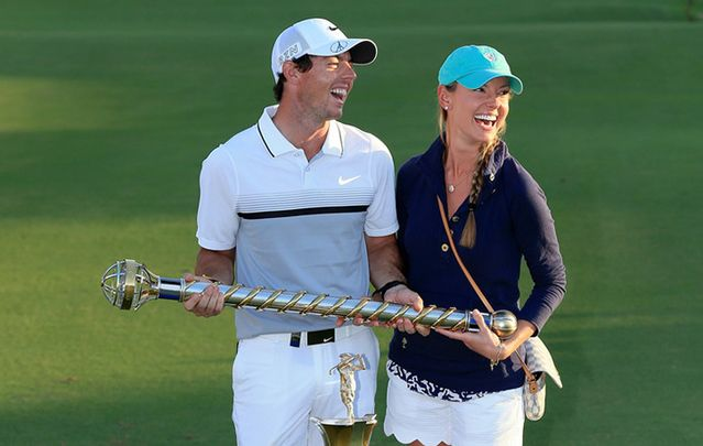 Rory McIlroy and his new bride Erica Stoll.