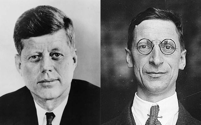 John F. Kennedy and Eamon de Valera.