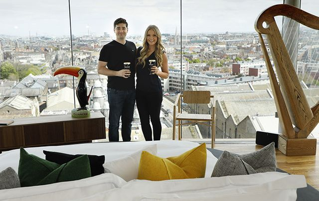A dream come true? This couple stayed over-night at the Guinness Storehouse.