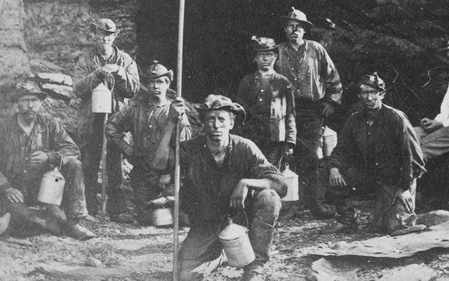 Coal miners in Pennsylvania, c. 1868