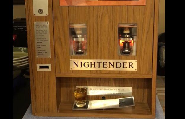 Night ender Irish Whiskey vending machine