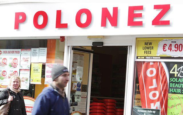 A Polish grocery store on Mary Street, Dublin.