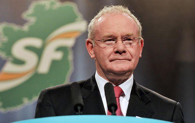 The late Sinn Fein leader Martin McGuinness.