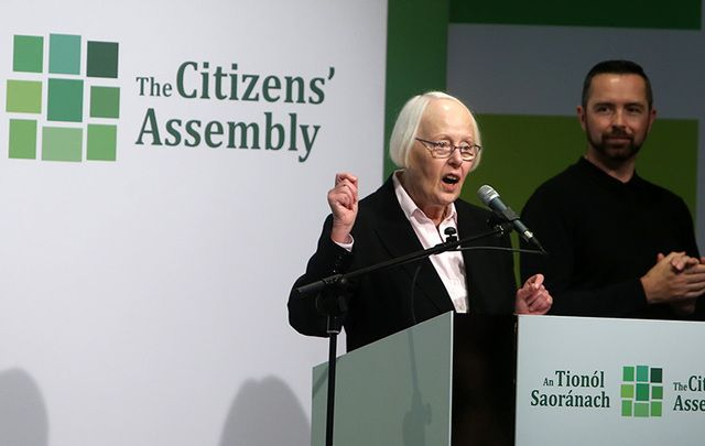 Citizens Assembly Chairperson Justice Mary Laffoy.
