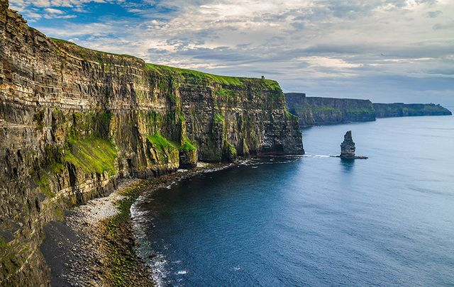 The stunning Cliffs of Moher, in County Clare.