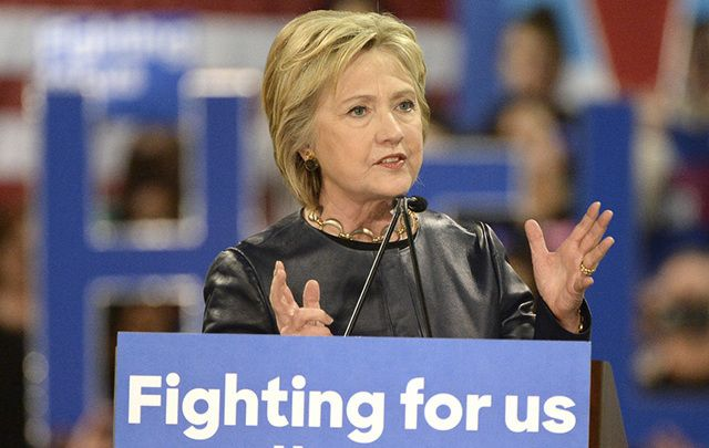 The woman who could have been president - Hillary Clinton on the campaign trail.