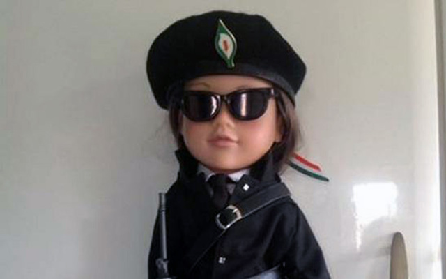 """A Scottish mother has been condemned for selling """"Provo girl"""" IRA doll."""