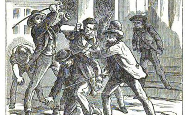 An attack in 1877 on a coal mine owner.