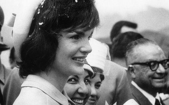 Jackie Kennedy Onassis.