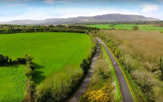 Aerial shot of Waterford Greenway.