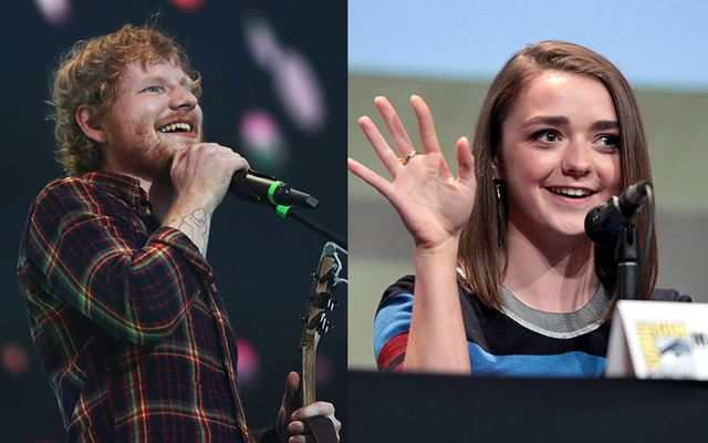 English singer Ed Sheeran and Game of Thrones actress Maisie Williams.