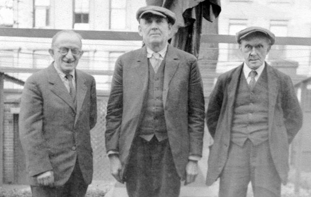 John Curry, center, one of the Knock visionaries, in New York, where he will be reinterred.