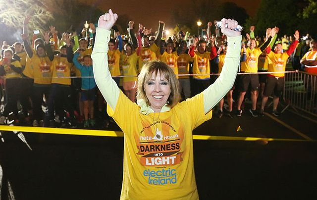 Founder of Darkness into Light Senator Joan Freeman at a 2016 event.
