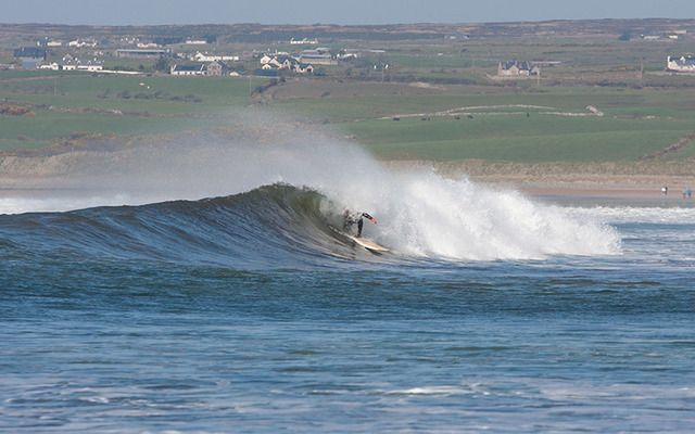 A surfer off the Irish coast.