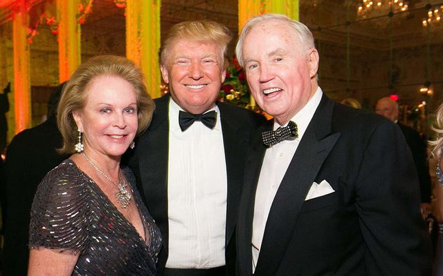 Eileen Burns, Donald Trump and Brian Burns.