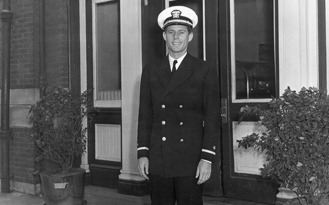 Ensign John F. Kennedy, USN, in South Carolina.