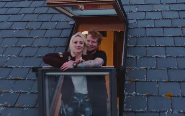 "Saoirse Ronan and Ed Sheeran in ""Galway Girl\""."