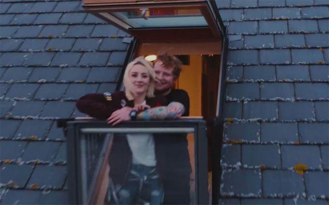"""Saoirse Ronan and Ed Sheeran in \""""Galway Girl\""""."""