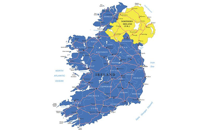 Map Of Ireland With County Borders.Why Is The Irish Border Where It Is Irishcentral Com