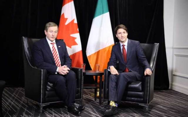 Enda Kenny and Justin Trudeau