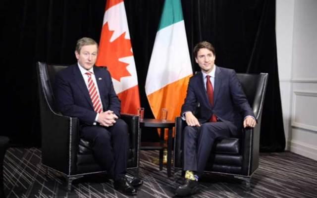 Enda Kenny and Justin Trudeau