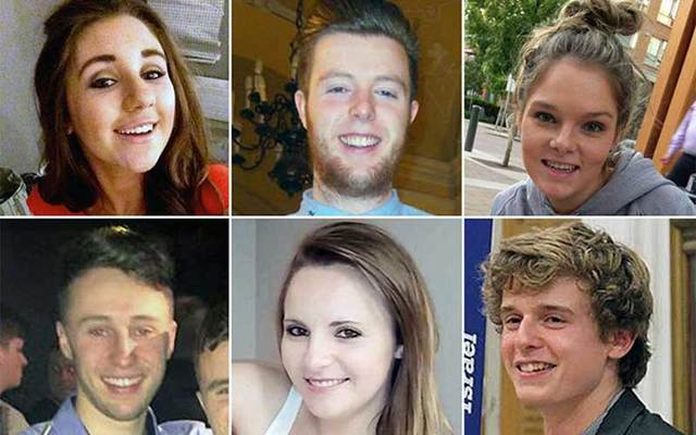 The six students who died on June 16 when the balcony collapse in Berkeley, CA.