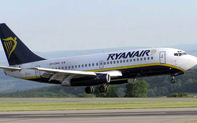 Ryanair airplane.
