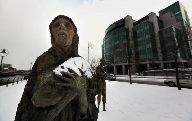 Irish Famine Memorial in Dublin.