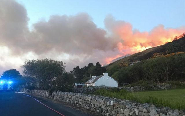 Gorse fire rages in Donegal.