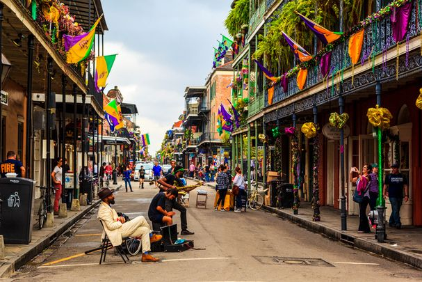 The world famous French Quarter in New Orleans