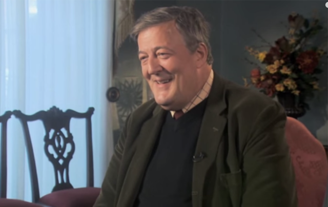"Stephen Fry spoke about his feelings on God on RTE\'s ""The Meaning of Life.\"""