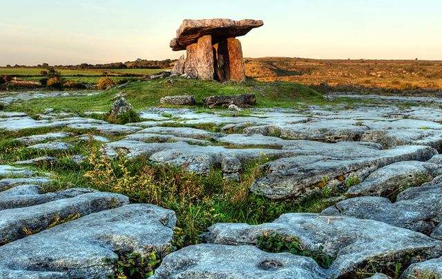 The Burren\'s karst landscape in County Clare.