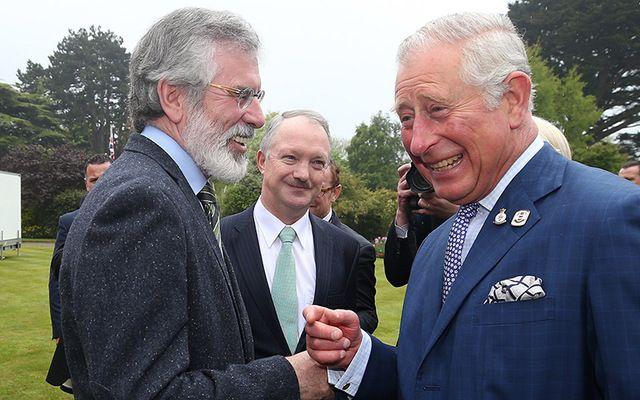 British Prince Charles meeting with Sinn Féin\'s President Gerry Adams in Glencairn.