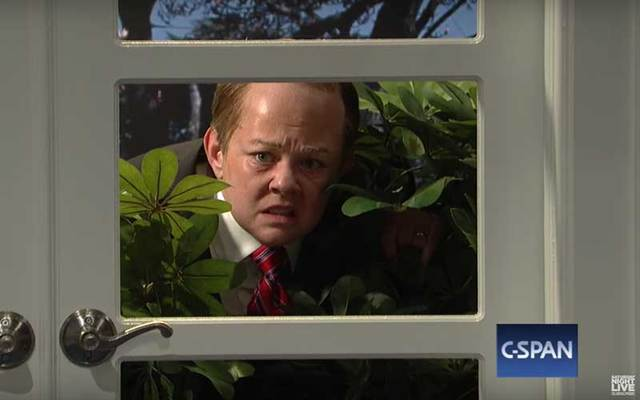 Melissa McCarthy as Sean Spicer on Saturday Night Live.